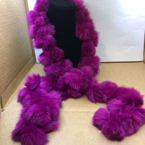New York & Company • Genuine Rabbit Fur Scarf